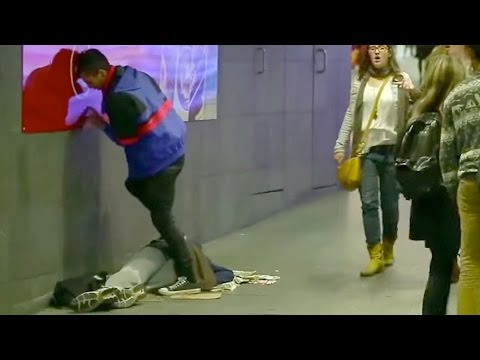 Homeless Man Pee Prank video