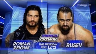 WWE 2015  Roman Reigns Vs Rusev   SmackDown