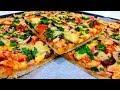 ПИЦЦА ДОМАШНЯЯ в духовке О-о-о-очень Вкусная Пицца с Колбасой Простой Рецепт БОЛЬШОЙ Домашней пиццы
