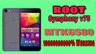 How To Root Symphony V75 2017 update MTK6580 Marshmallow root 100% working Must see