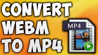 How To Convert WEBM To MP4 Online - Best WEBM To MP4 Converter [BEGINNER