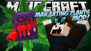 Minecraft | MAN EATING PLANTS MOD! (Mowzies Mobs) | Mod Showcase