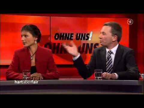 Die OHNE UNS PARTEI - Bernd Lucke AfD und Sahra Wagenknecht Linke - 30.09.2013 - Bananenrepublik