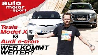 Tesla Model X gegen Audi e-tron: Der Reichweiten-Test - Bloch erklärt #58 | auto motor und sport