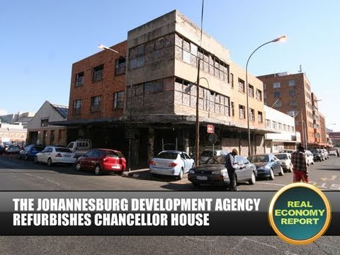 From Creamer Media in Johannesburg, this is the Real Economy Report. The Johannesburg Development Agency has refurbished the culturally significant Chancello...