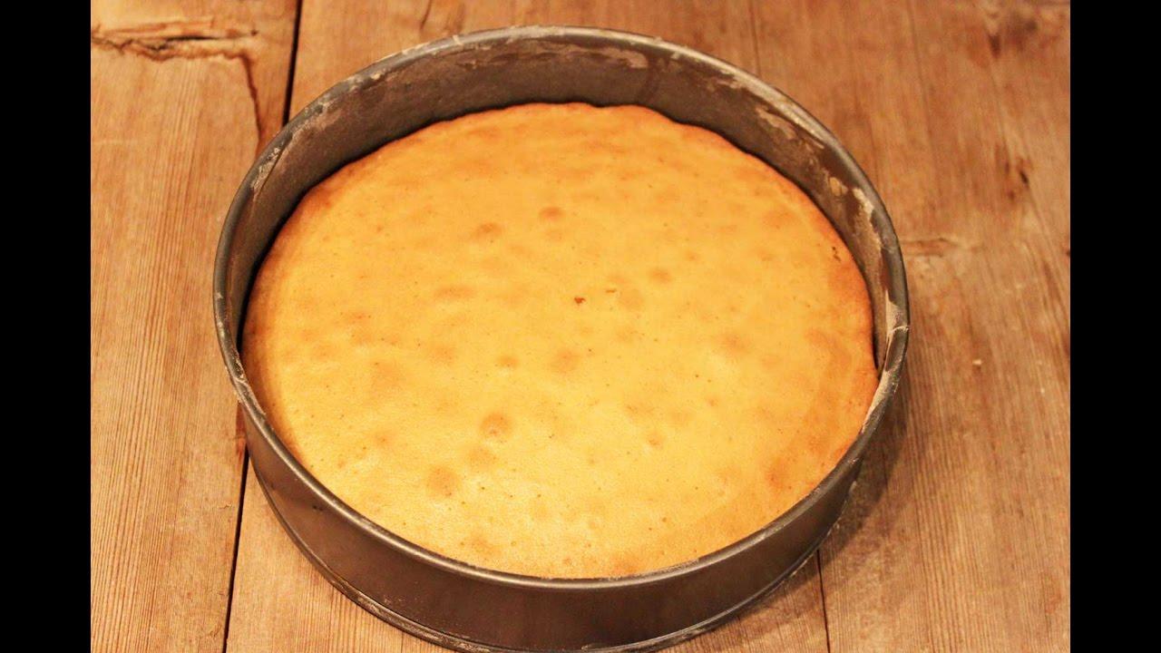 Пошаговые рецепты бисквита