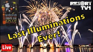 🔴Live: The LAST Illuminations: Reflections of Earth Show Ever! Walt Disney World Live Stream