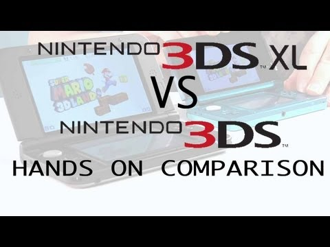 3DS XL vs 3DS Hands On Comparison NEW 2012