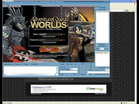 Como hackear as lojas do AQW!