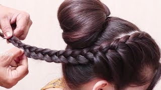 Indian Traditional Bun hairstyles for Long Hair || hair style girl || Best hairstyles for 2018