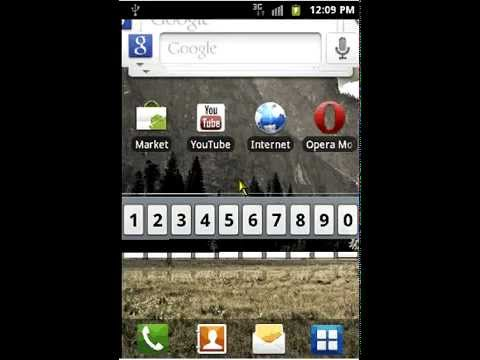 Select 3g mode in Samsung Galaxy Ace