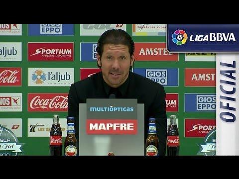 Rueda de Prensa de Simeone tras el Elche CF (0-2) Atlético de Madrid - HD