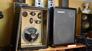 Regent 600/1000 VEB Musikelektronik Klingenthal - DDR Lautsprecherbox Loudspeaker