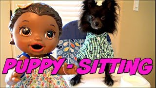 BABY ALIVE  has a FUN DAY with her PUPPY! The Lilly and Mommy Show. The TOYTASTIC Sisters