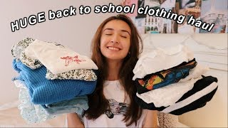 a HUGE back to school TRY ON CLOTHING HAUL!