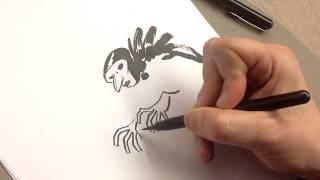 """Comment dessiner """"L'Homme gribouillé"""", la leçon de dessin de Frederik Peeters"""