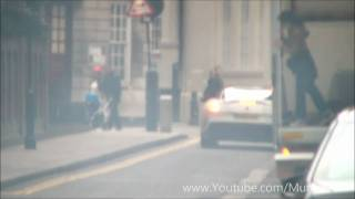 FERRARI 599 GTO HUGE BURNOUT IN LONDON