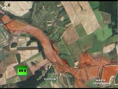NASA satellite image shows horrific scale of Hungary toxic sludge disaster