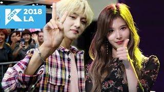 Download Lagu MEETING K-POP IDOLS IN REAL LIFE! (KCON LA Vlog #2) Gratis STAFABAND