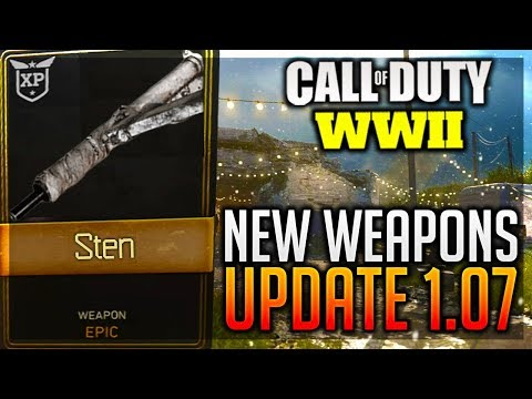 """NEW"" WINTER SIEGE UPDATE! CALL OF DUTY WW2 UPDATE 1.07 [COD WW2 PATCH NOTES] WW2 New DLC Weapons!"