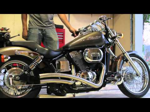 Honda Shadow Spirit 750 with custom Sway Exhuast