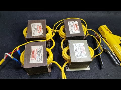 DIY Arc Welding Machine  - 4pcs Microwave Transformers