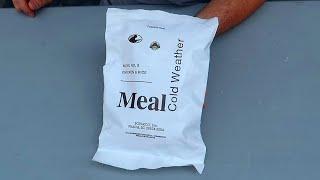 Tasting US Cold Weather MRE menu 5