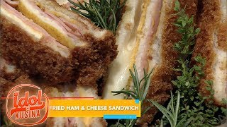 Idol sa Kusina: How to make fried ham and cheese sandwich