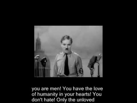 The Great Dictator Speech - 1940 Charlie Chaplin Movie
