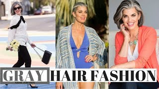 GRAY HAIR FASHION | WHAT COLORS TO WEAR | Nikol Johnson
