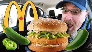 McDonald's 🌶️ NEW SPICY JALAPEÑO McCHICKEN 🌶️🔥🥵