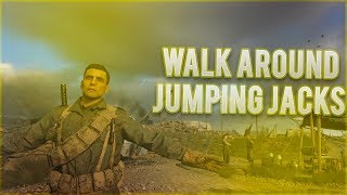 CoD: WW2 AMAZING Walking Jumping Jacks In Headquarters Glitch (Call of Duty: World War 2)