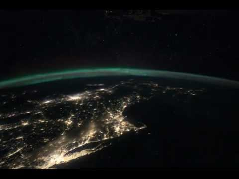 ISS Flight From Gulf Up The East Coast of US -