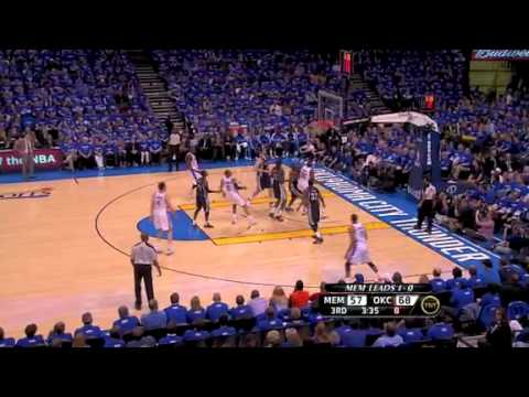 NBA Playoffs 2011: Memphis Grizzlies Vs OKC Thunder Game 2 Highlights (1-1)