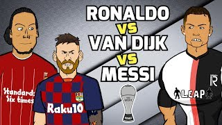 🏆MESSI vs RONALDO vs VAN DIJK!🏆 The Best Awards: Football Challenges