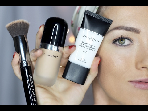 How to Apply Foundation For Beginners - Flat Top Kabuki - Foundation Brush by MintPear