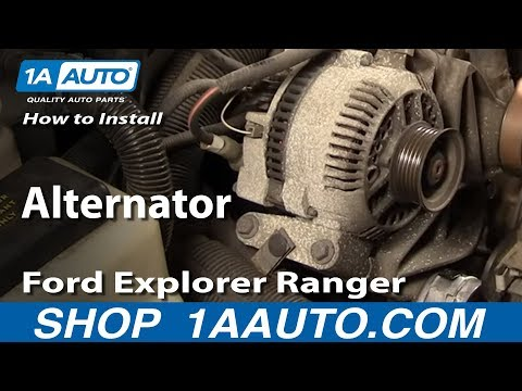 How To Install Replace Alternator Ford Explorer Ranger Truck Van Mazda 4.0L 94-05 1AAuto.com