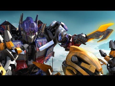 Transformers The Last Knight: Optimus Prime VS Bumble Bee (FIGHT SCENE)