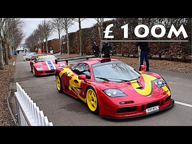 £100 MILLION WORTH OF RACE CARS ON TRACK!!