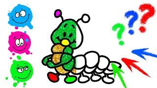 Drawing for kids. Glitter caterpillar. Art ideas   Like Art