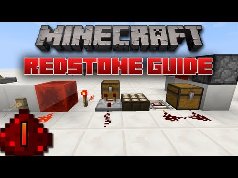 Minecraft Redstone Guide: 1 - Basic Inputs and Outputs (Introduction to Redstone)