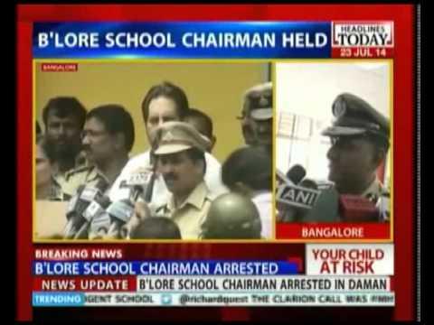 Bengaluru Girl Rape Case: Chairman Of School Arrested video