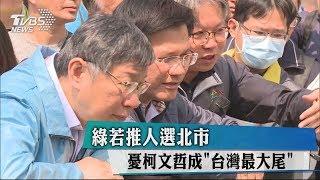 民進黨若推人選北市 憂柯文哲成「台灣最大尾」