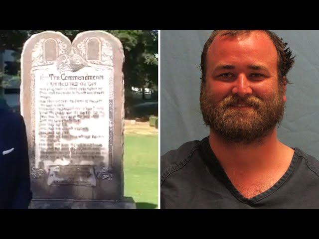 Man Drives Car Into Ten Commandments Statue One Day After Installation: Cops