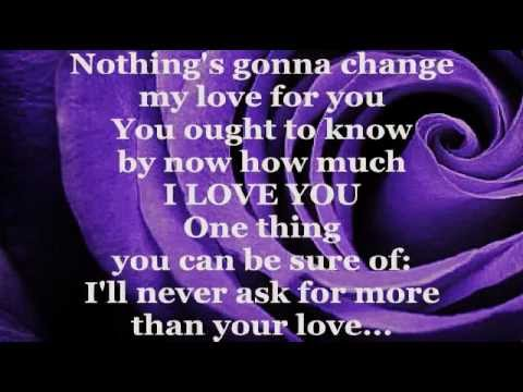 Glenn Medeiros - Nothing's Gonna Change My Love For You (lyrics) video