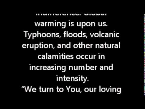 Oratio Impirata Prayer For Natural Calamities Youtube