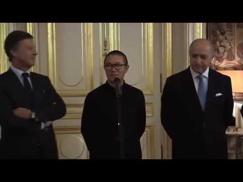 Laurent Fabius anonce l'accord entre M. Bazin et M. Qi (15/12/2014)