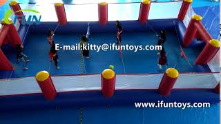 Giant Inflatable Human Table Foosball Court/ Inflatable Table Soccer Field/Football Field for sale