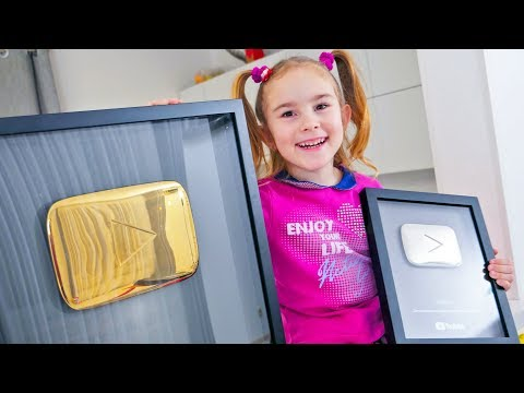 Gold play button or silver for MelliArt channel / Best reward for 1 million subscribers from youtube