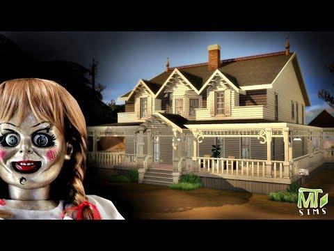 FUI VISITAR A ANNABELLE - Casa do Filme Annabelle 2 │The Sims 4 (Speed Build)